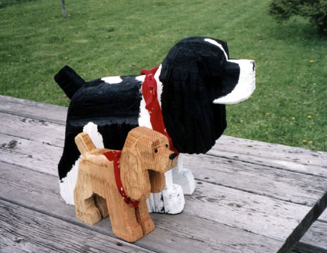 Wooden Cocker Spaniel Dog