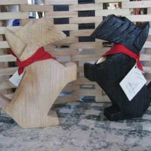 Adorable Scottie Wood Folk Art