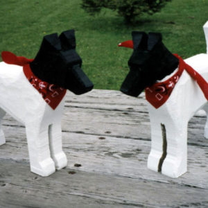 Wooden Dog Gifts - Painted